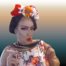 Pic of Beautiful Transgender Girl Modeling Frida Kahlo