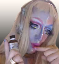 Pic of Beautiful Transgender Girl Modeling Alien Serving Girl