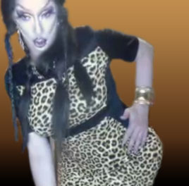 Pic of Beautiful Transgender Girl Modeling Leopard Dress
