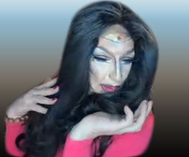 Pic of Beautiful Transgender Girl Modeling Wonder Woman