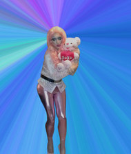 Pic of Beautiful Transgender Girl Modeling Pink Plastic Doll