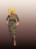 Pic of Beautiful Transgender Girl Modeling Leopard Print