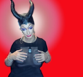 Pic of Beautiful Transgender Girl Modeling Maleficent
