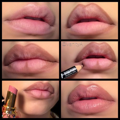 Multiple lip looks.